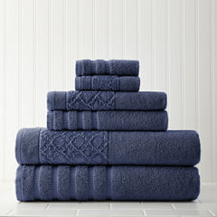 Pacific Coast Textiles Velour Diamond 6-pc. Bath Towel Set