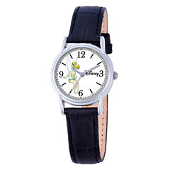 Disney Tinker Bell Womens Black Strap Watch-W000550
