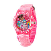 Disney DC Comics Girls Pink Strap Watch-W001685
