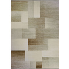 multi blocks printed rectangular rug - Home Decor Clearance