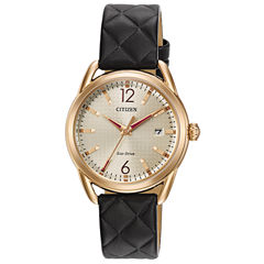 Drive from Citizen Womens Black Strap Watch-Fe6083-13p