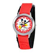 Disney Mickey Mouse Boys Red Strap Watch-W000018