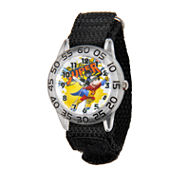 Disney Mickey Mouse Boys Black Strap Watch-W001653