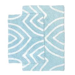 Homewear Linens Leaf Tips 2-pc. Bath Rug Set
