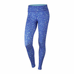 Nike Solid Cotton Blend Leggings