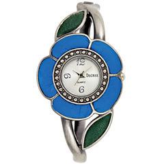 Decree® Fashion Hinged Cuff Flower Watch