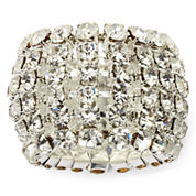 Vieste® Crystal Stretch Ring