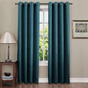 Sun Zero™ Emory Crushed Room-Darkening Grommet-Top Curtain Panel