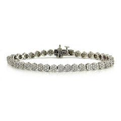 LIMITED QUANTITIES 2 CT. T.W. Diamond 14K White Gold Tennis Bracelet