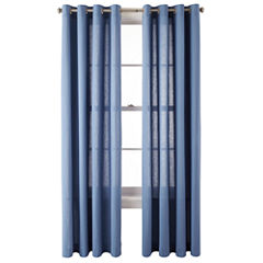 MarthaWindow™ Tremont Grommet-Top Linen/Cotton Curtain Panel