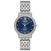 Citizen Womens Silver Tone Bracelet Watch-Ex1480-58l