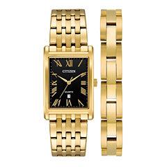 Citizen Mens Gold Tone Watch Boxed Set-Bh3002-62e