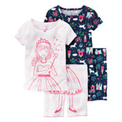 Carter's Girls Pajama Shorts-Baby