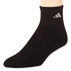 adidas® Mens 6-pk. Athletic Cushioned Quarter Socks