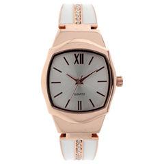 Mixit Womens Rose Goldtone Bangle Watch-Jcp2975rwt