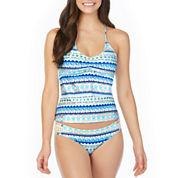 Arizona Geometric Tankini Swimsuit Top or Hipster Bottom-Juniors