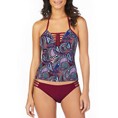 Ambrielle Paisley Tankini Swimsuit Top