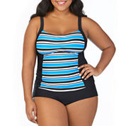 St. John's Bay ® Pacific Stripe Peasant Tankini or Basic Pant- Plus