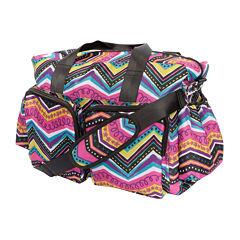 Trend Lab® Modern Chevron Deluxe Duffel Diaper Bag