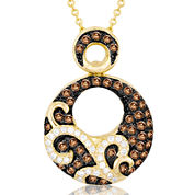 LIMITED QUANTITIES Le Vian Grand Sample Sale 1/2 CT. T.W. White and Chocolate Diamond Circle Necklace