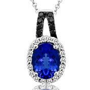LIMITED QUANTITIES  Le Vian® Grand Sample Sale Genuine Tanzanite and 1/6 CT. T.W. Diamond Necklace