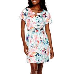 Liz Claiborne® ShortSleeve Floral Dress