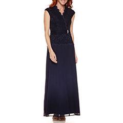Blue Sage SleevelessEvening Gown
