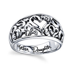 Inspired Moments™ Sterling Silver Mother Daughter Ring
