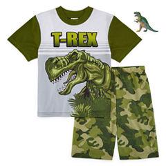 2-pc.T-REX Short Sleeve-Big Kid Boys