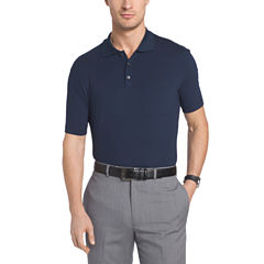 Van Heusen Short Sleeve Flex Stretch Solid Polo