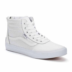 Vans Milton Hi Top Perforated Leather Womens Sneakers