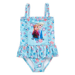 Disney Disney Princess Solid One Piece Swimsuit Toddler Girls