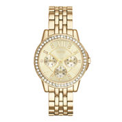 Relic® Womens Crystal-Accent Gold-Tone Bracelet Watch ZR15754