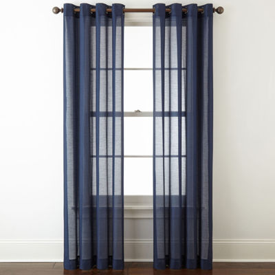 JCPenney Home Batiste Grommet Top Sheer Curtain Panel