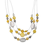 Mixit™ Yellow Bead and Shell Illusion Necklace