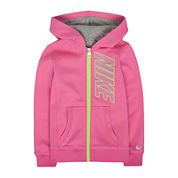 Nike® Full-Zip Fleece Hoodie - Preschool Girls 4-6x