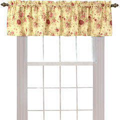 Greenland Home Fashions Antique Rose Rod-Pocket Lined Valance