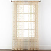 Royal Velvet® Geneva Embroidered Rod-Pocket Sheer Curtain Panel