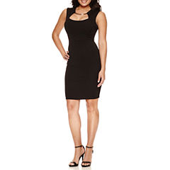 Bisou Bisou® Sleeveless Dress W/Hardware