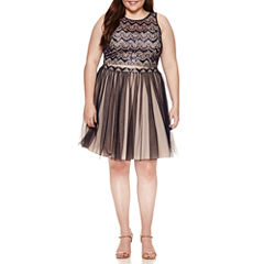 My Michelle Sleeveless Embellished Dress Set-Juniors Plus