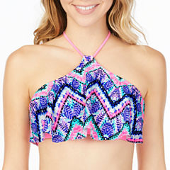 Arizona Tie Dye Flounce Swimsuit Top-Juniors