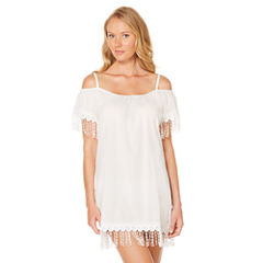 Laundry By Design Solid Swimsuit Cover-Up Dress