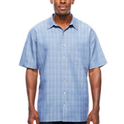 Van Heusen Short Sleeve Rayon Polyester Shirt- Big & Tall