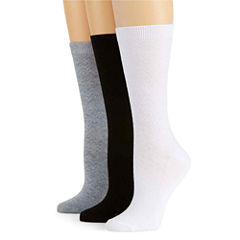 Mixit™ 3-pk. Chevron Textured Crew Socks