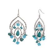 El By Erica Silver Over Brass Drop Earrings