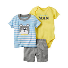 Carter's Boys 3-pc. Short Sleeve Short Set