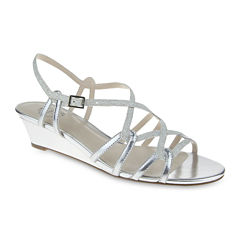 I. Miller Fair Metallic Strappy Wedge Sandals