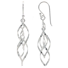 Silver Treasures The Skinny Sterling Silver Drop Earrings