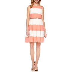 Be By CHETTA B Sleeveless Fit & Flare Dress