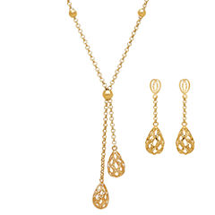 Limited Quantities! Womens 2-pc. 10K Gold Jewelry Set